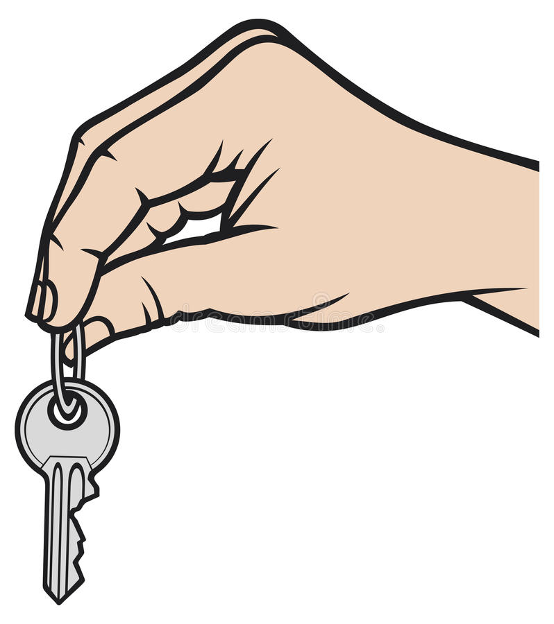 ręka klucz royalty ilustracja
