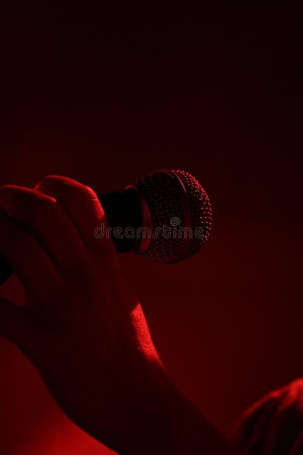 ręka koncertowa mic obrazy royalty free