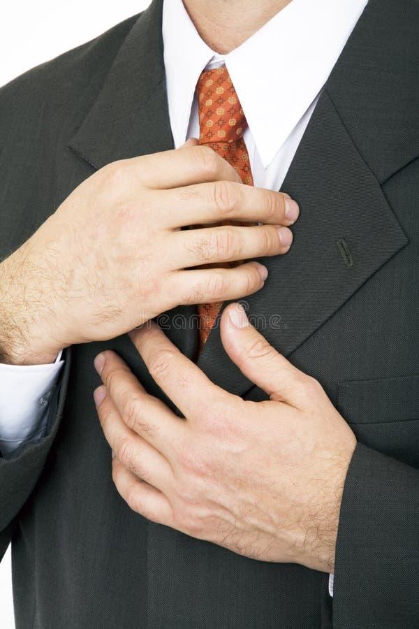 ręka krawat zdjęcie stock