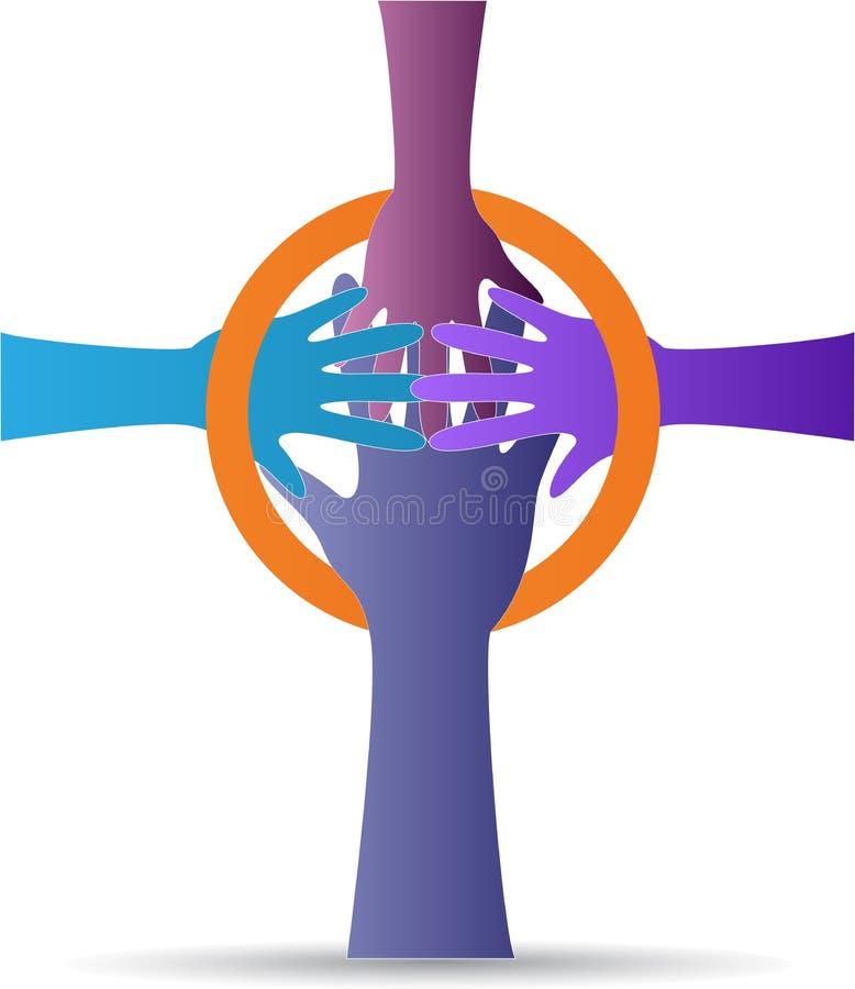 Ręka krzyż royalty ilustracja