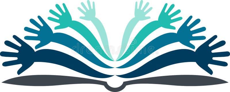 Ręka książkowy logo royalty ilustracja