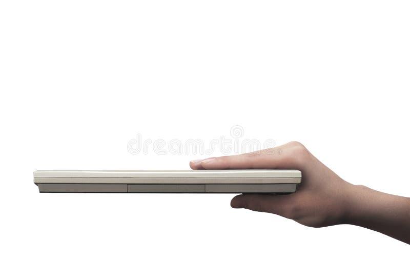 ręka laptop obraz stock