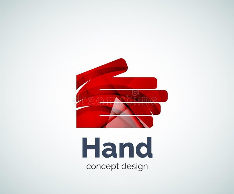 Ręka loga szablon ilustracji