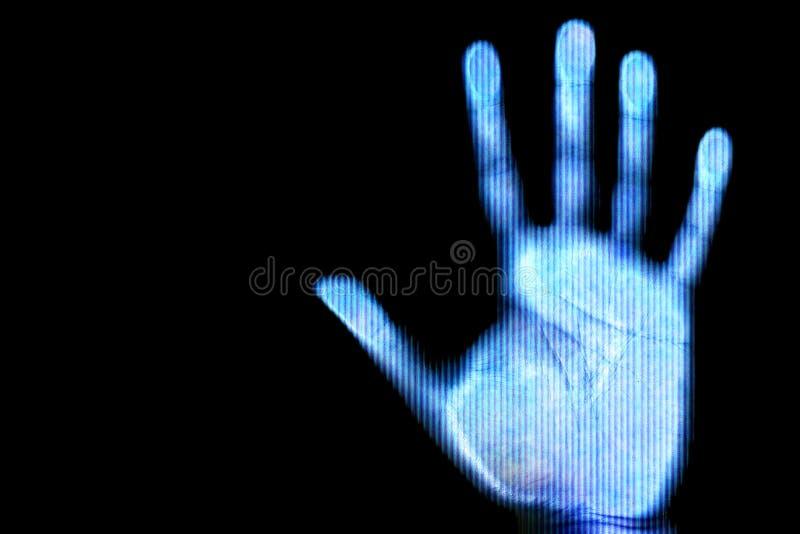 ręka ludzkie skan obraz royalty free