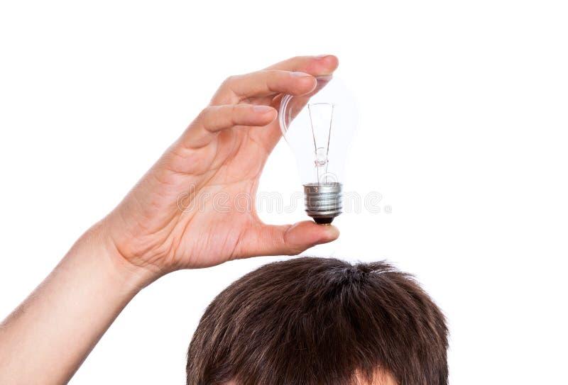 ręka mężczyzna kierowniczy lampowy s fotografia royalty free