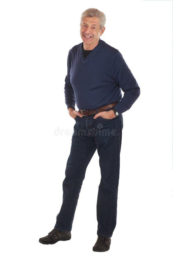 ręka mężczyzna wkładać do kieszeni starszy ja target1243_0_ zdjęcia royalty free