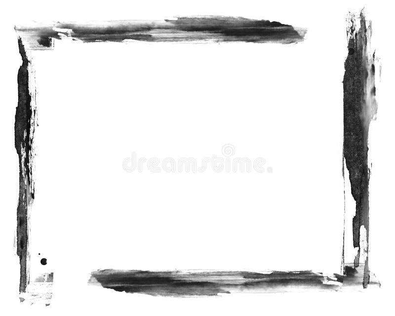 Ręka malująca grunge mieszająca środek rama royalty ilustracja
