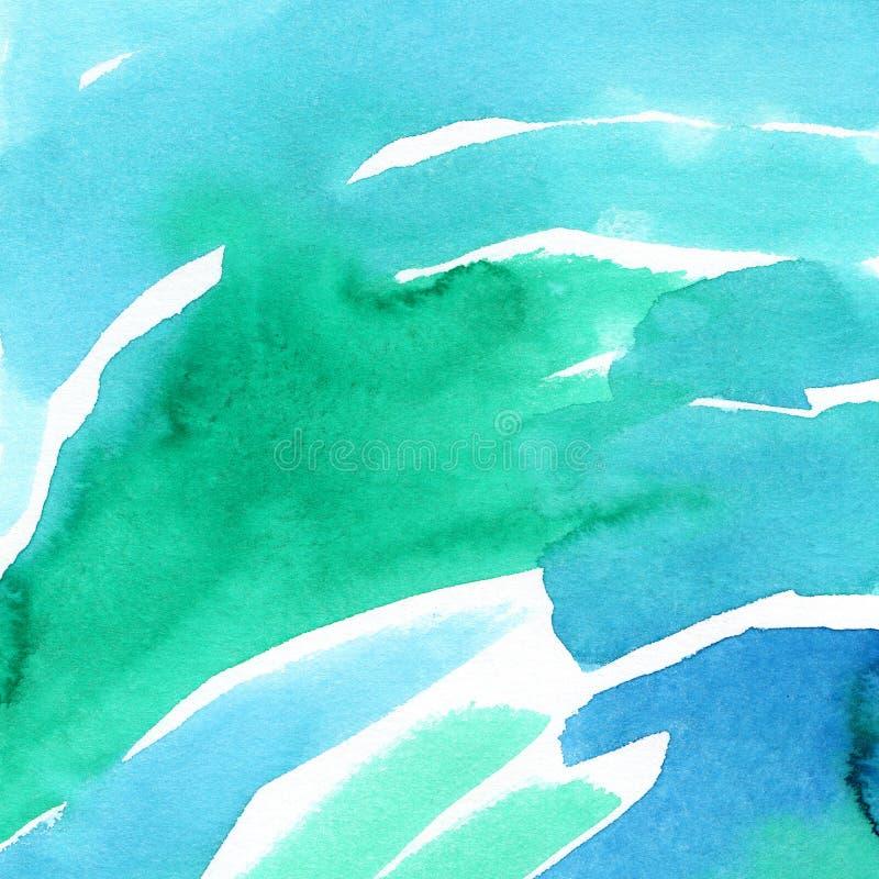Ręka malujący akwareli tło Akwareli linie i plamy ilustracji