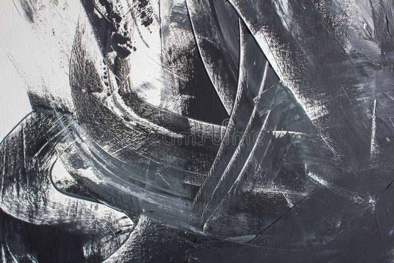 Ręka malujący czarny i biały tło ilustracji