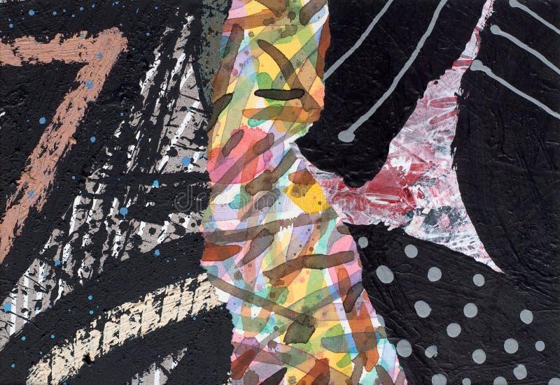 Ręka Malujący Papierowy kolaż zdjęcie royalty free