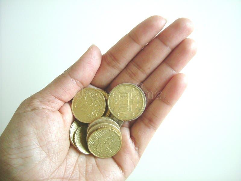 ręka monety. zdjęcia stock