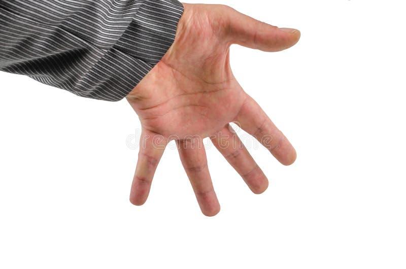 Ręka, nadgarstek, palce, kciuk, phalange, odizolowywający, tło, gwóźdź, emocje fotografia royalty free