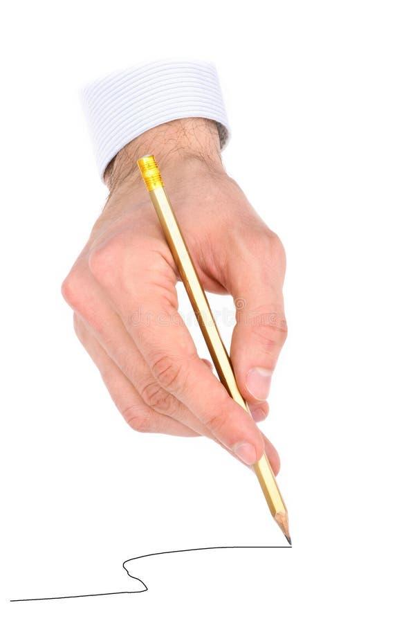 ręka ołówek fotografia stock