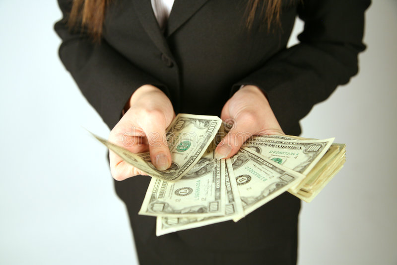 ręka odjąć pieniądze fotografia royalty free