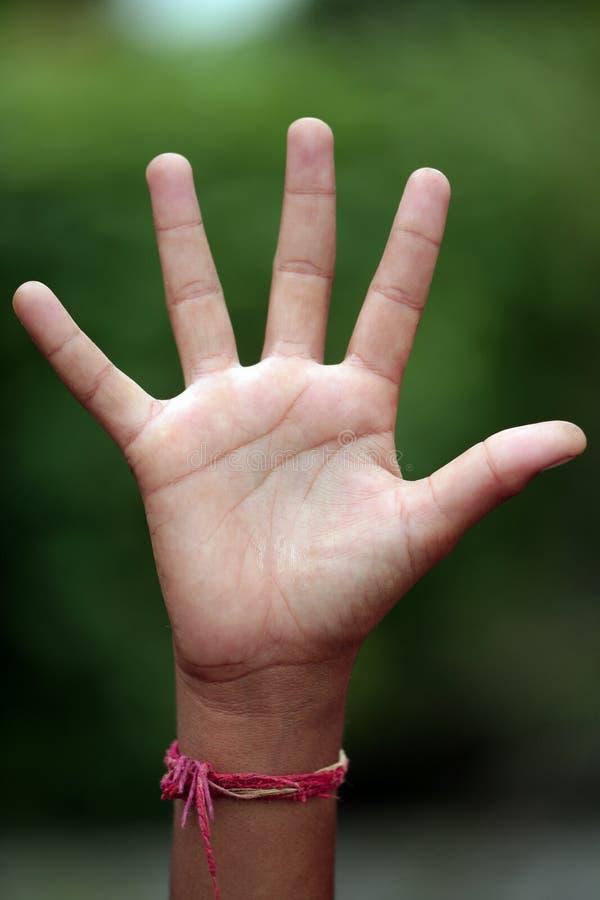 ręka otwarta zdjęcie stock