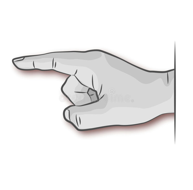 Ręka, palec i notatka, royalty ilustracja