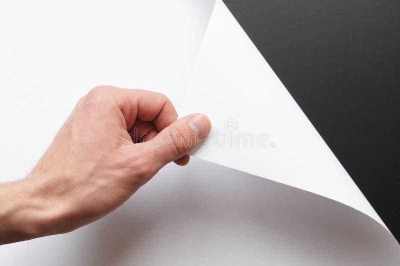 ręka papier fotografia stock
