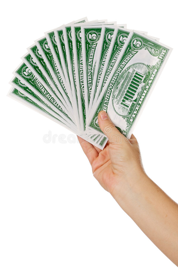 ręka pieniądze obrazy royalty free