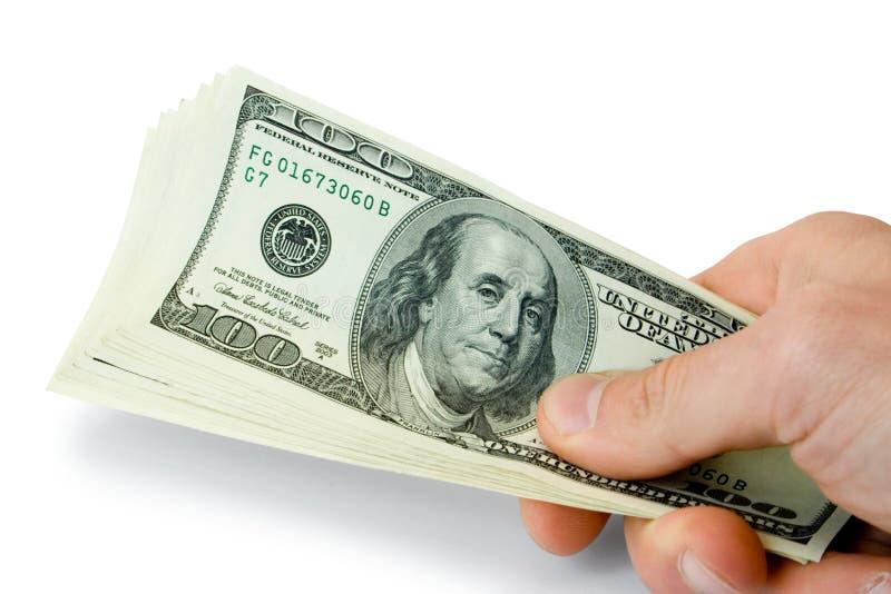 ręka pieniądze fotografia stock