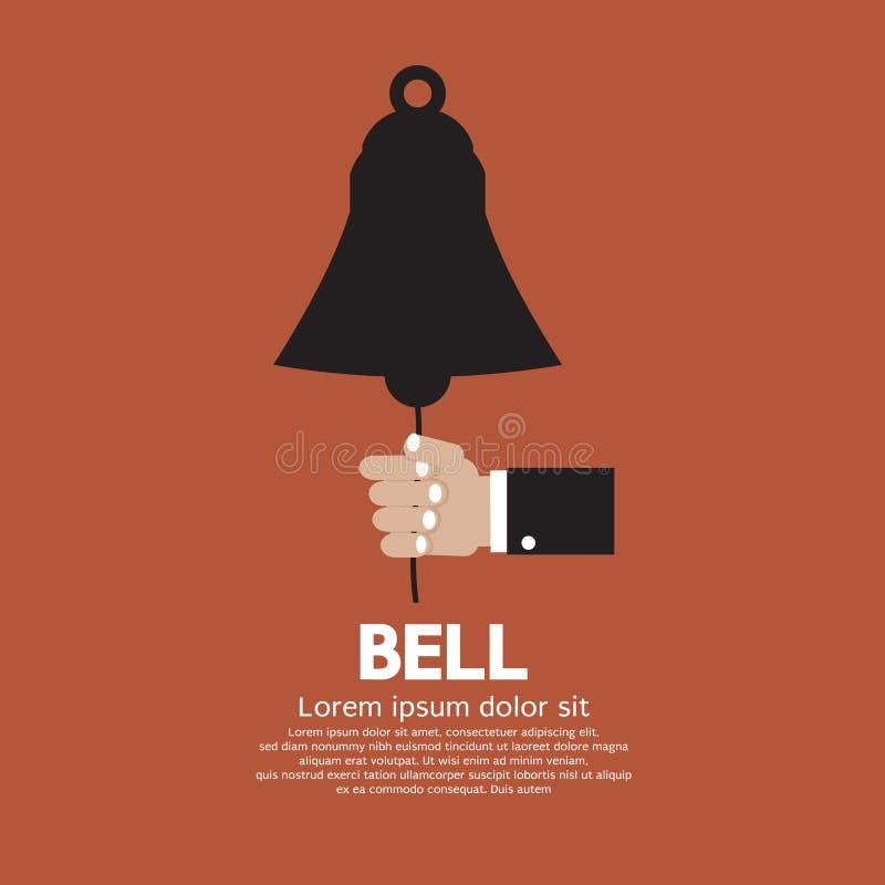 Ręka pierścionek Bell. royalty ilustracja