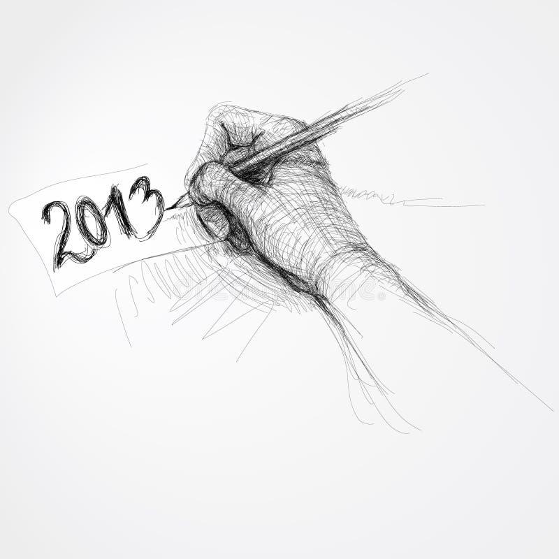 Ręka pisze â2013â ilustracja wektor