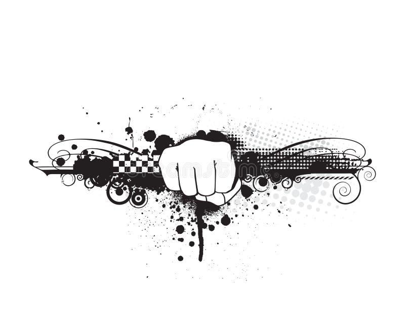 ręka poncz royalty ilustracja