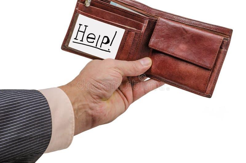 Ręka, portfel, biznes, skóra, pieniądze, nadgarstek, zakup, kryzys, sprzedaż, wekslowy tempo, finanse obraz royalty free