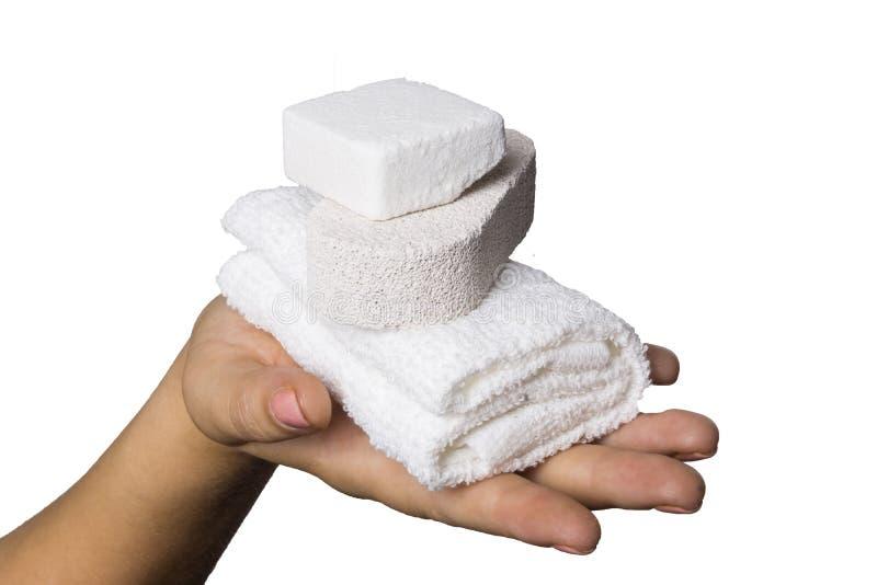 Ręka ręcznik zdjęcie stock