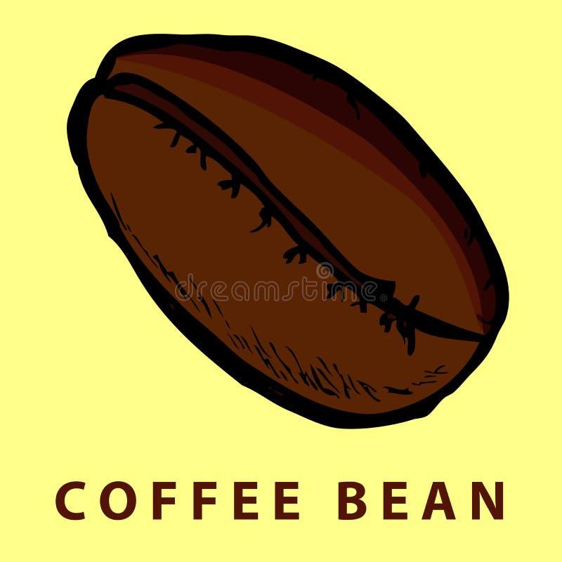 Ręka remisu nakreślenie kawowa fasola ilustracja wektor