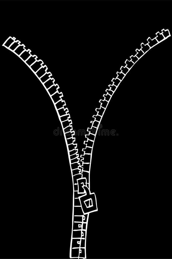 Ręka remisu nakreślenie, suwaczek, biały kontur przy czernią royalty ilustracja