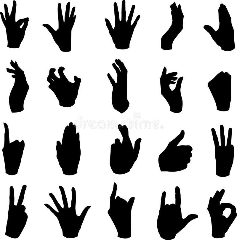 ręka ruchy royalty ilustracja