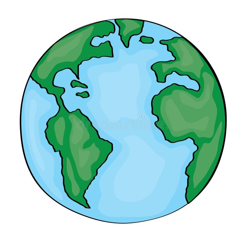 Ręka rysująca śliczna kreskówki ziemia America zdjęcie royalty free
