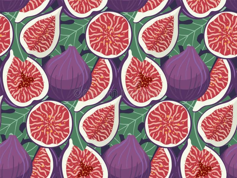 Ręka rysująca czupirzy owocowego bezszwowego wzór ilustracja wektor