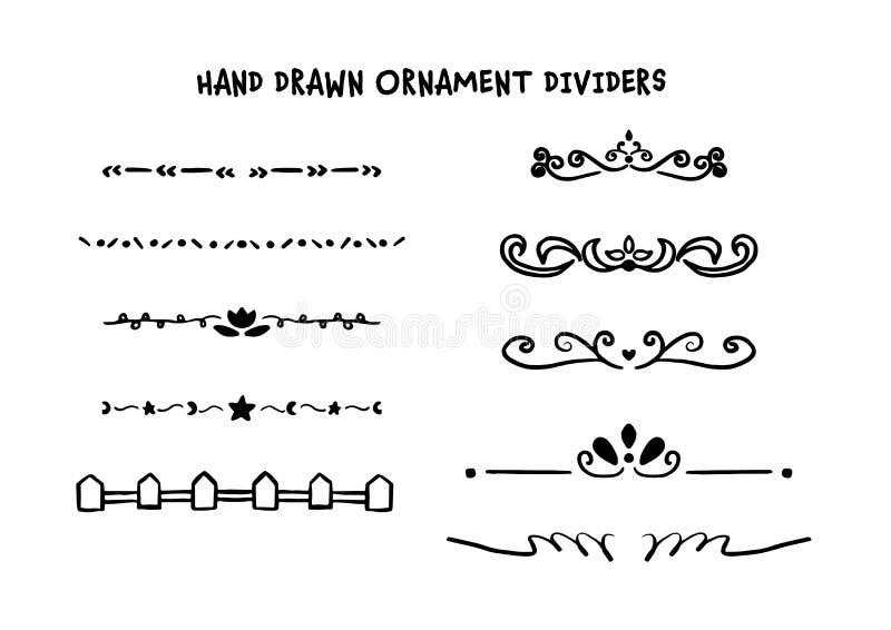 Ręka rysująca dividers set ilustracji