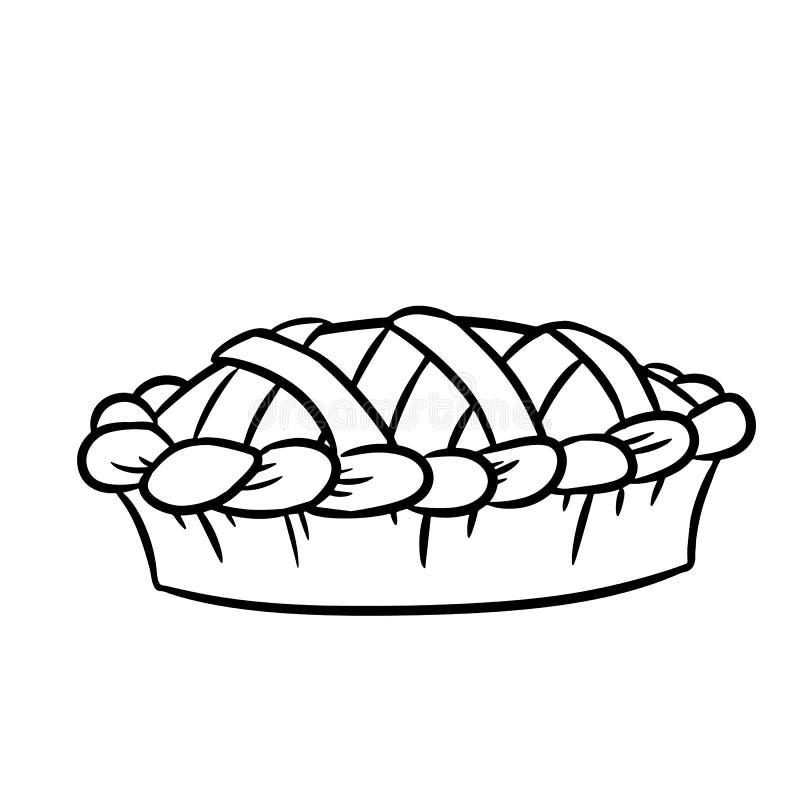 Ręka rysująca doodle pasztetowa czarny i biały ikona royalty ilustracja