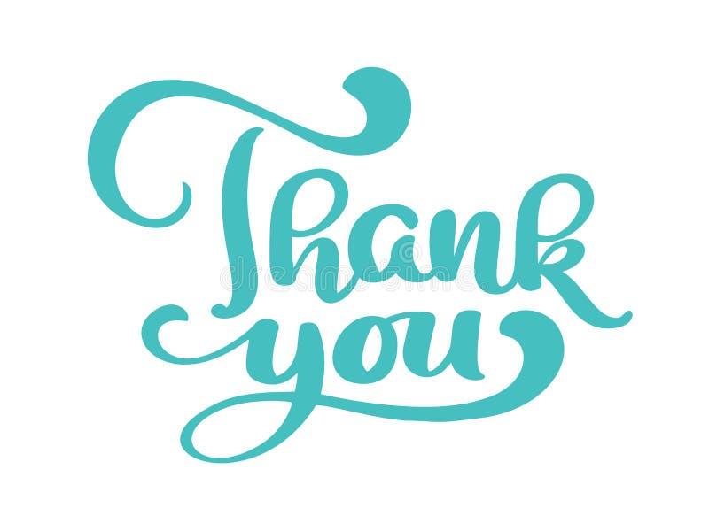 Ręka rysująca Dziękuje ciebie tekst Modna ręki literowania wycena, mod grafika, sztuka druk dla plakatów i kartka z pozdrowieniam ilustracji