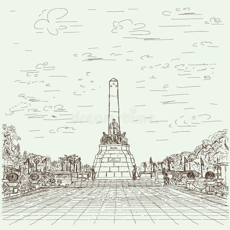 Jose rizal ilustracja wektor