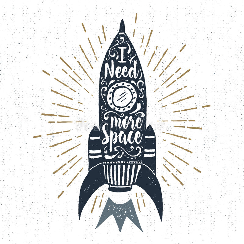 Ręka rysująca inspiracyjna etykietka ilustracji