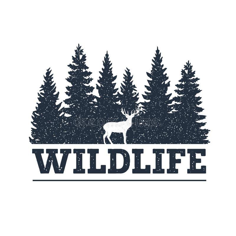 Ręka rysująca inspiracyjna etykietka Podróżować przez dzikiej natury ilustracji