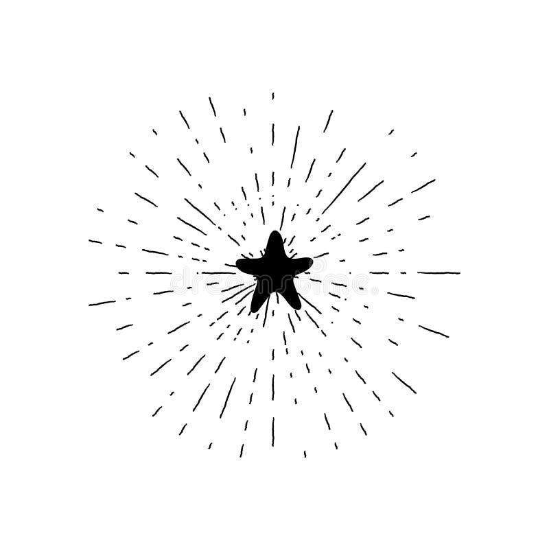 Ręka rysująca modniś gwiazda ilustracja wektor
