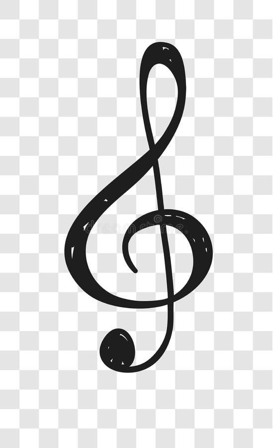 Ręka rysująca muzyki notatki ilustracja Doodle set symbole Kreatywnie atrament sztuki praca Faktyczny rysunek royalty ilustracja