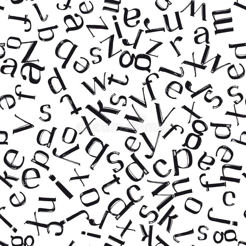 Ręka rysująca pisze list bezszwowego wzór ilustracja wektor