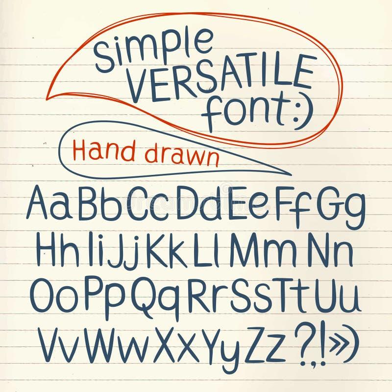 Ręka rysująca typeset ilustracja wektor
