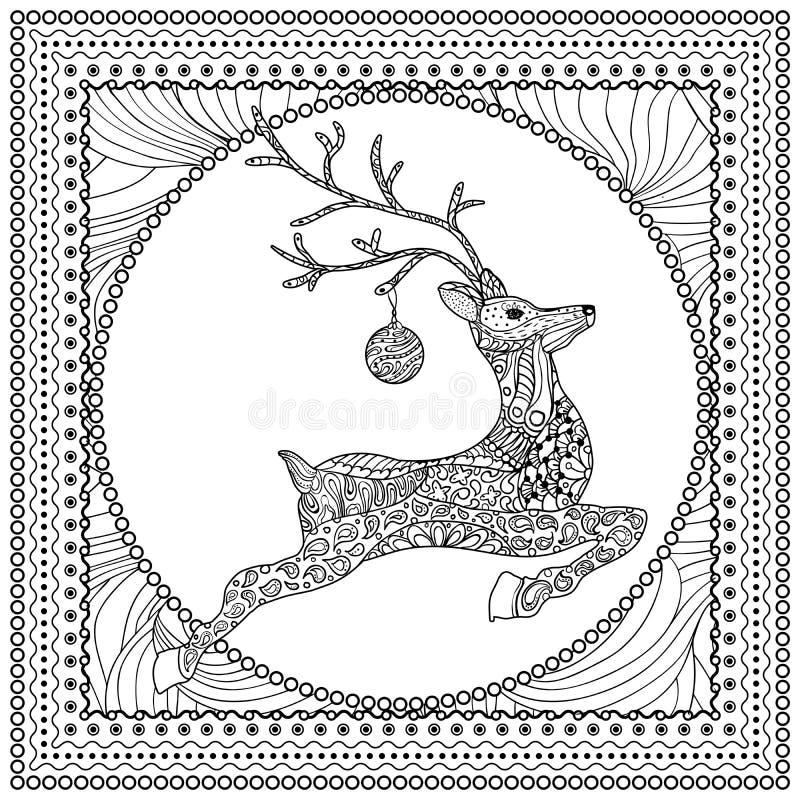 Ręka Rysująca Wektorowa ilustracja Skokowy rogacz ilustracja wektor
