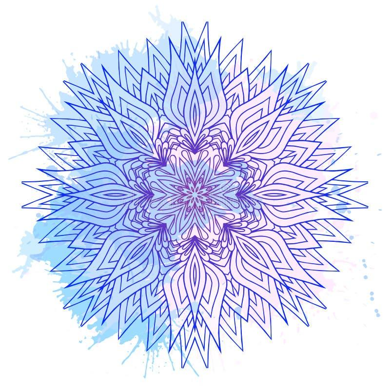 Ręka rysująca wokoło mandala ilustracja wektor