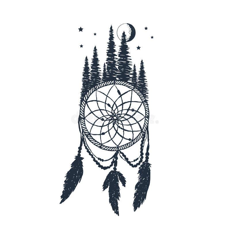 Ręka rysująca wymarzona łapacza wektoru ilustracja ilustracja wektor