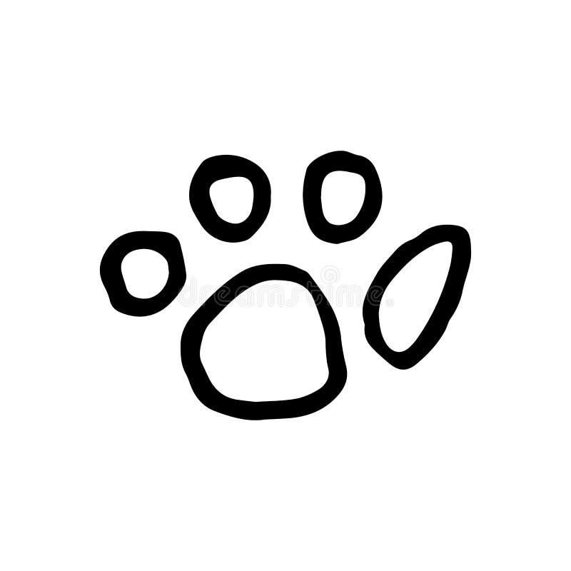 Ręka Rysujący łapy doodle Nakreślenie stylowa ikona Dekoracja element Jest ilustracja wektor