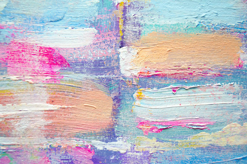Ręka rysujący akrylowy obraz sztuki abstrakcjonistycznej tło Akrylowy obraz na kanwie Kolor tekstura Czerep grafika brushstrokes fotografia royalty free