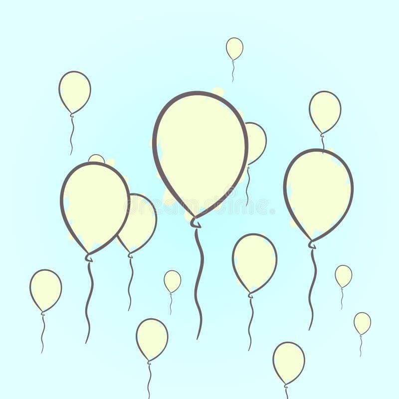 Ręka rysujący balony royalty ilustracja