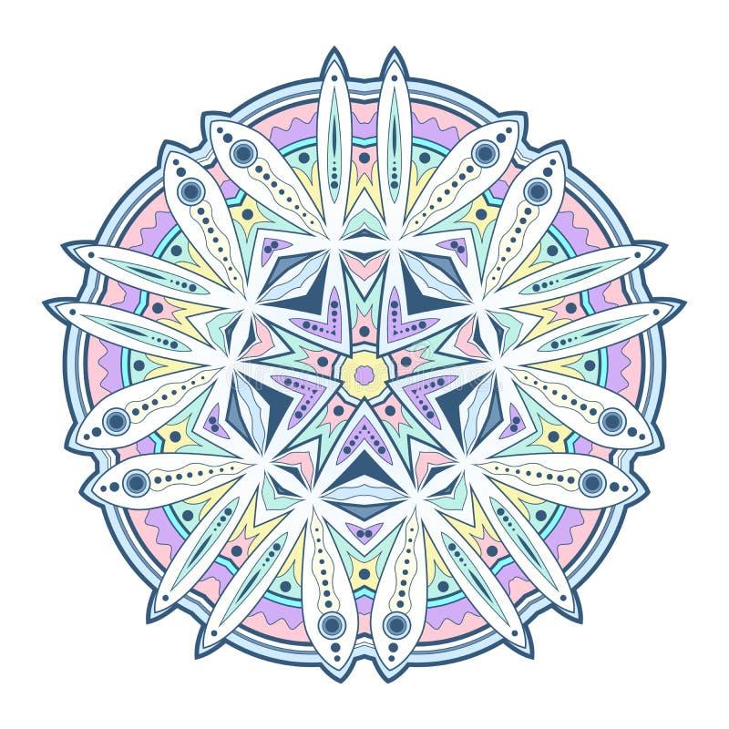 Ręka rysujący doodle mandala w wektorowym formacie obrazy royalty free